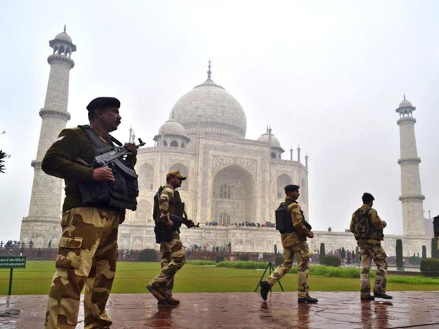 Security had been increased at the Taj Mahal for Obama