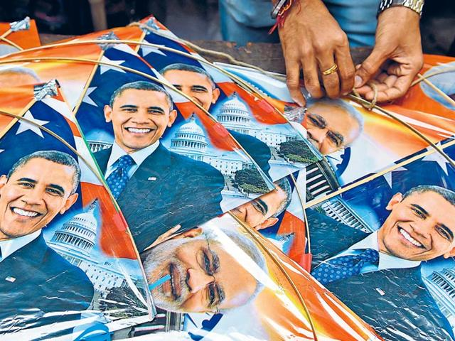 A-shopkeeper-strings-kites-with-images-of-Prime-Minister-Narendra-Modi-and-United-States-President-Barack-Obama-in-Mumbai-GETTYIMAGES