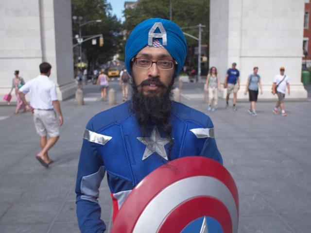 Captain Sikh America,Sikhs,New York