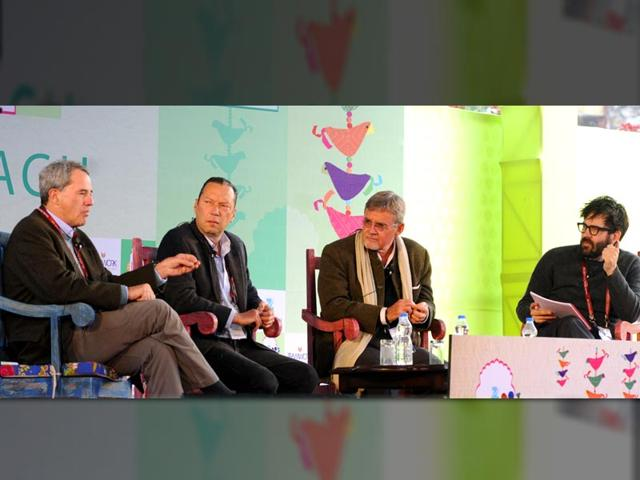 From-Left-Charles-Glass-Scott-Anderson-Kai-Bird-and-Jonathan-Shainin-at-a-session-on-The-CIA-and-the-Wilderness-of-Mirors-during-the-Literature-Festival-in-Jaipur-on-Sunday-25-January-2015-Photo-Mohd-Zakir-HT
