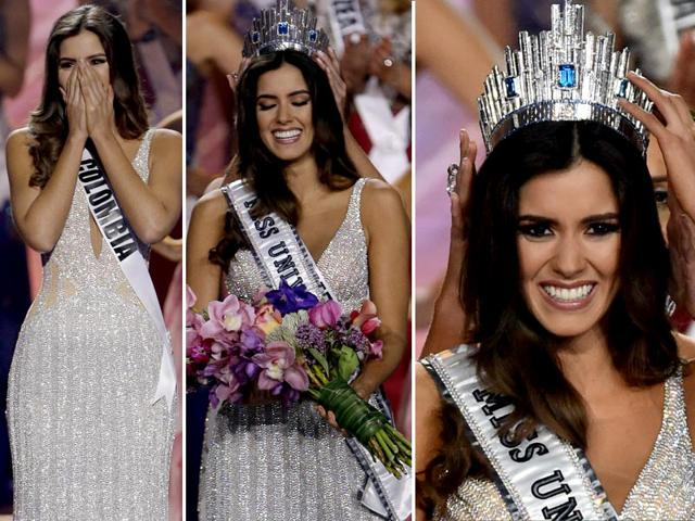 Miss-Colombia-Paulina-Vega-while-being-crowned-Miss-Universe-She-beat-contestants-from-87-other-countries-Photos-Reuters-AFP
