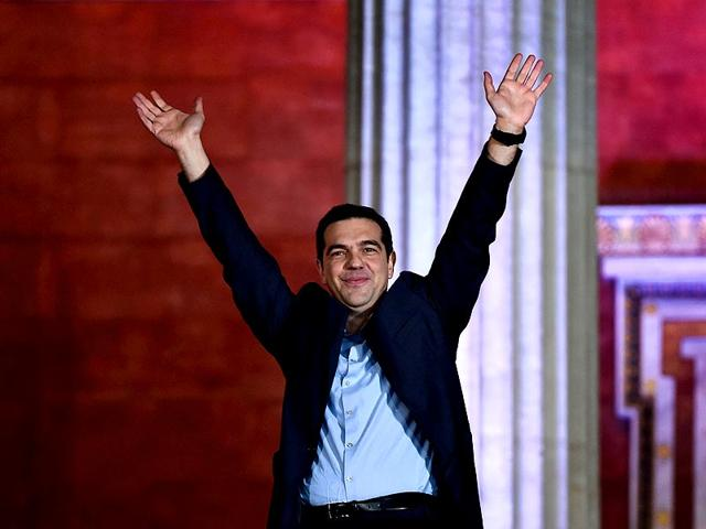 Syriza-leader-Alexis-Tsipras-greets-supporters-following-victory-in-the-election-in-Athens-AFP-Photo