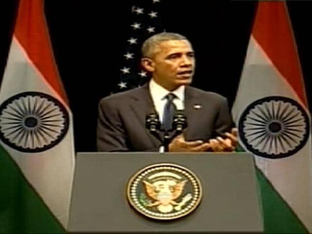 US-President-Barack-Obama-addressing-a-select-gathering-at-Delhi-s-Siri-Fort-Auditorium-Photo-screen-grab