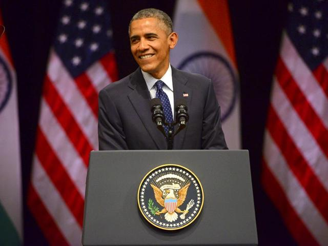 US-President-Barack-Obama-addressing-a-gathering-at-Siri-Fort-auditorium-in-New-Delhi-Vipin-Kumar-HT-File-photo