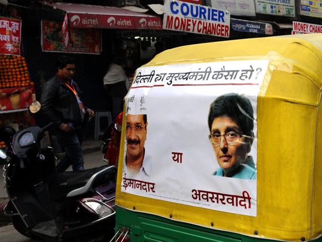 Aam-Aadmi-Party-s-election-campaign-posters-on-an-auto-rickshaw-for-the-upcoming-Delhi-elections-in-New-Delhi-Sonu-Mehta-HT-Photo