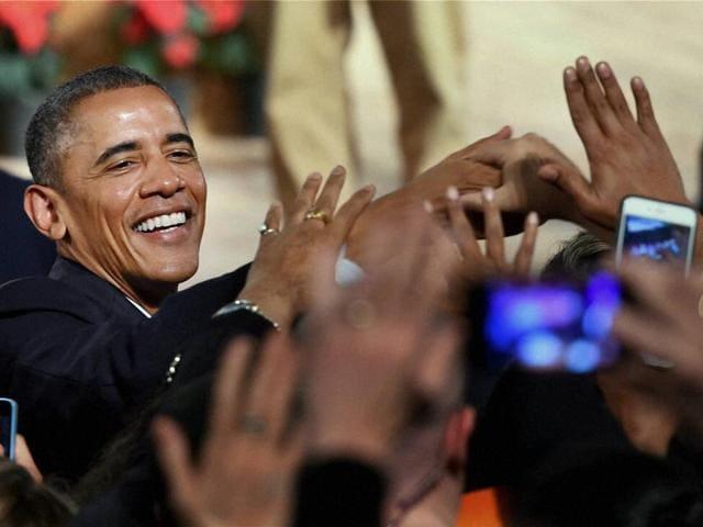 Barack Obama,US President,Siri Fort Auditorium
