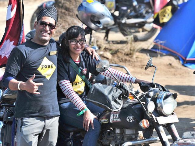 Pooja-Balhara-and-Arun-Khatri-Biker-family-HT-Photo