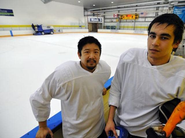 Victor-Lo-L-and-Richard-Loat-of-Five-Hole-for-Food-are-heading-to-northern-India-to-teach-youth-hockey-as-well-as-donate-equipment-Vancouver-desi-com