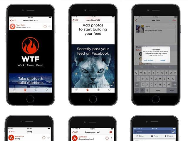 Wickr,private messaging,Facebook