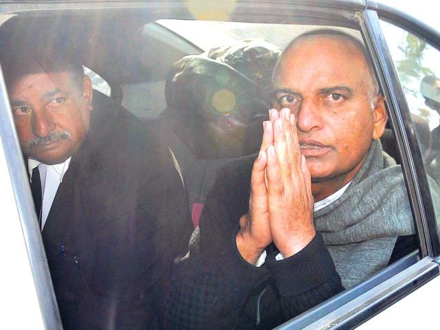 Former-RPSC-chairman-Habeeb-Khan-Gauran-leaves-the-session-court-premises-in-Jaipur-after-being-granted-bail-Prabhakar-Sharma-HT-Photo