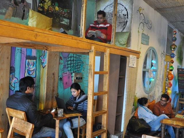 If-a-lot-can-happen-over-a-cup-of-coffee-a-lot-more-can-happen-now-with-the-book-cafe-culture-gaining-popularity-in-the-city-A-view-of-the-cosy-Books-and-Brew-Sector-16-Karun-Sharma-HT