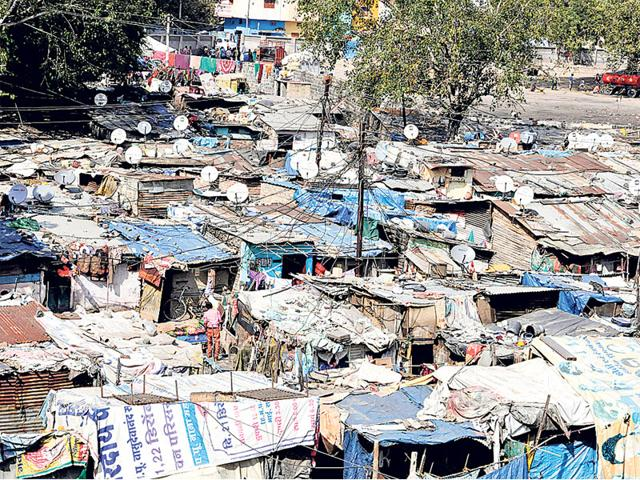 DTH-connections-dot-every-house-at-Shekhar-Nagar-slum-in-Indore-on-Tuesday-Arun-Mondhe-HT-photo