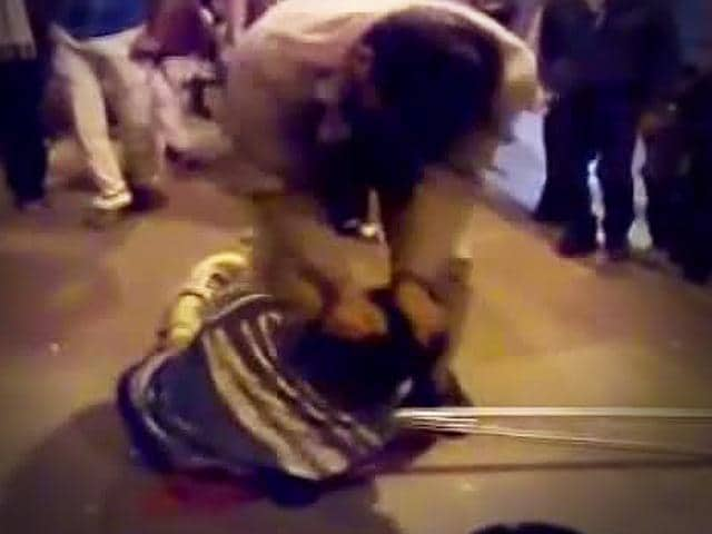 Howrah,physically challenged man beaten up,video