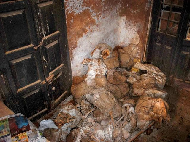 Number-of-human-skeletons-found-at-a-room-in-police-lines-in-Unnao-district-PTI-Photo