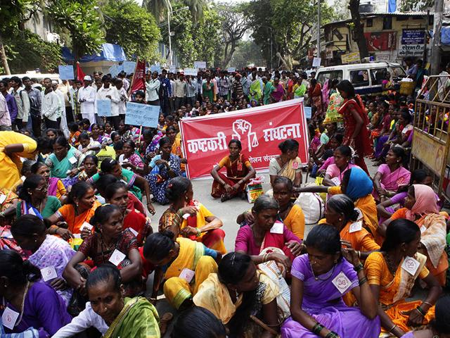 Tribals-protest-against-the-Narendra-Modi-government-in-Mumbai-for-making-changes-in-severals-laws-and-acts-including-the-food-security-act-Kalpak-Pathak-HT-Photo