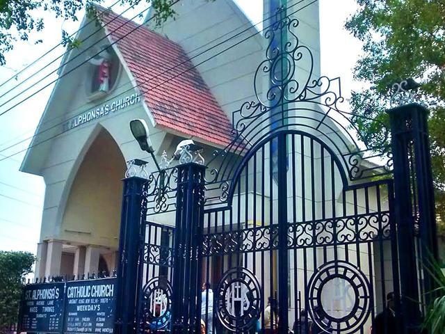 Delhi church vandalised,Vasant Kunj,St Alphonsa's Church