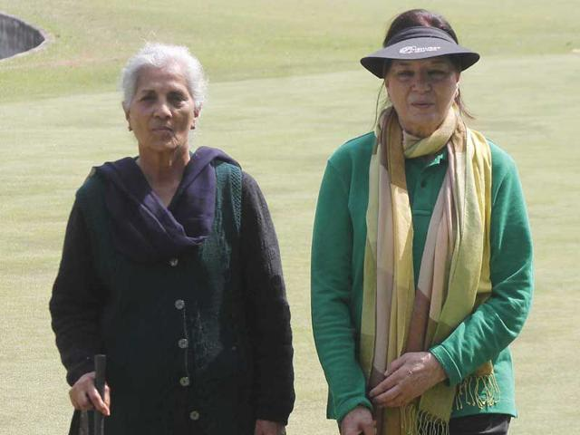 From-left-Dalbir-Sahi-78-and-Pali-Sukerchakia-79-will-be-the-seniormost-participants-at-the-21st-Punjab-Open-Ladies-Golf-Tournament-starting-on-Tuesday--HT-PHOTO