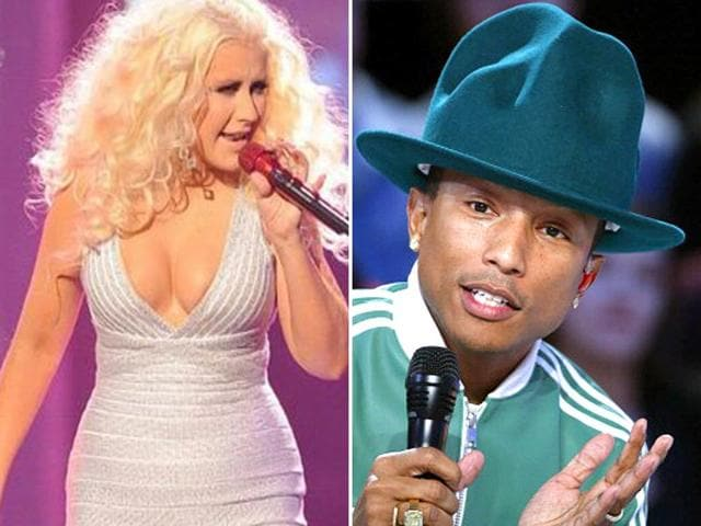 Christina-Aguilera-of-the-The-Mickey-Mouse-Club-fame-won-a-Grammy-for-Beautiful-while-rapper-Pharrell-Williams-is-the-toast-of-the-crowds-these-days-and-a-multiple-Grammy-Awards-winner