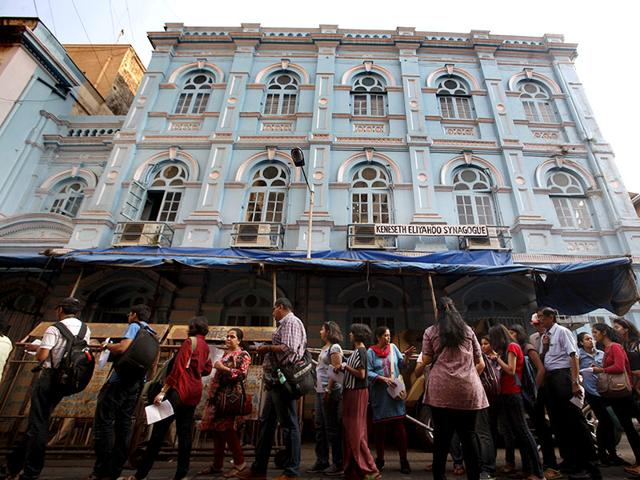 File-photo-of-heritage-walk-at-the-Kala-Ghoda-Festival-in-2014-where-visitors-were-taken-to-a-synagogue-in-Mumbai-Vidya-Subramanian-HT-photo