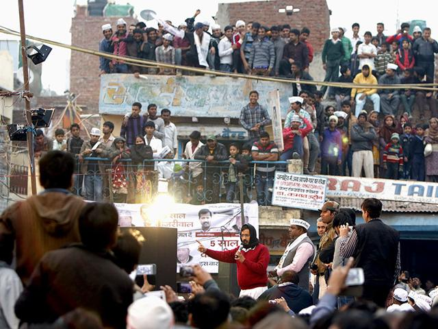 AAP-Leader-Arvind-Kejriwal-s-addressing-public-meeting-at-Trilokpuri-Arun-Sharma-HT-Photo