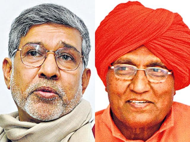 Nobel-laureate-Kailash-Satyarthi-and-his-mentor-Swami-Agnivesh-are-embroiled-in-a-protracted-legal-battle-HT-File-Photos