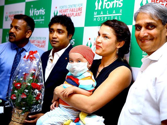 Gleb-Kudriavtsev-with-his-mother-Neli-in-Chennai