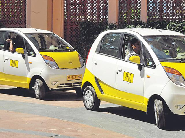 The-company-had-introduced-Tata-Motors-small-car-Nano-as-part-of-its-fleet-in-Bangalore-in-December-last-year-HT-Photo