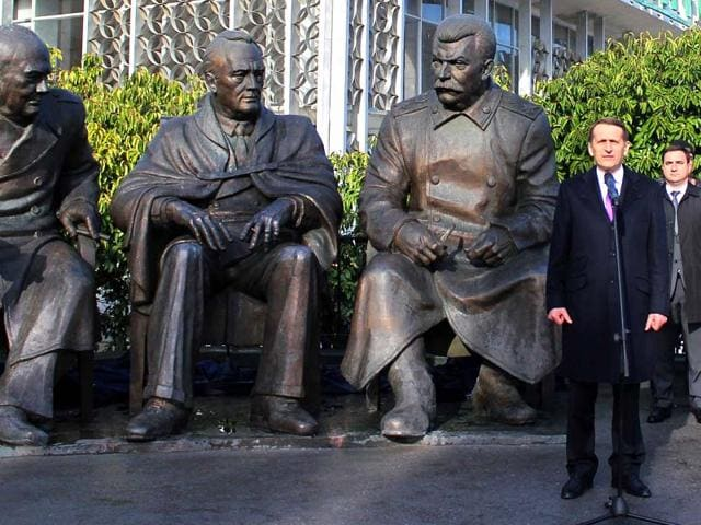 Russia-s-State-Duma-speaker-Sergei-Naryshkin-R-attends-the-opening-ceremony-of-a-monument-featuring-British-prime-minister-Winston-Churchill-L-US-President-Theodore-Roosevelt-C-and-Soviet-leader-Josef-Stalin-the-three-Allied-leaders-side-by-side-in-the-Yalta-conference-in-Livadiya-outside-Yalta-Crimea-AFP-photo