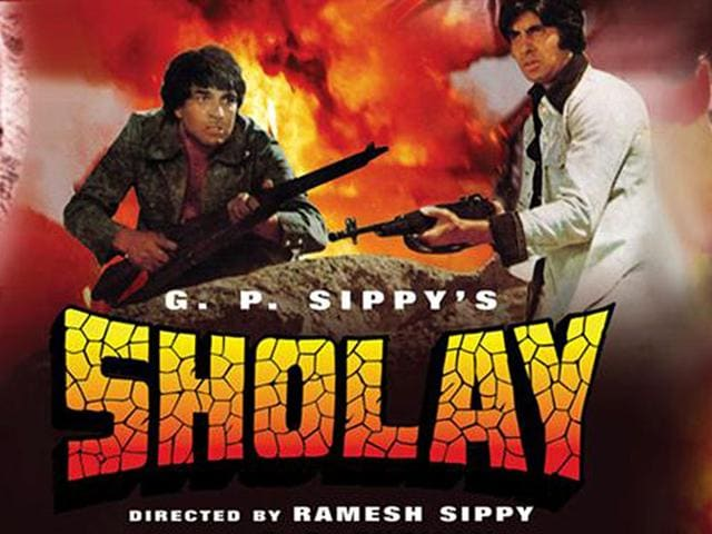 A-poster-of-Sholay-considered-to-be-one-the-greatest-classics-of-Indian-cinema