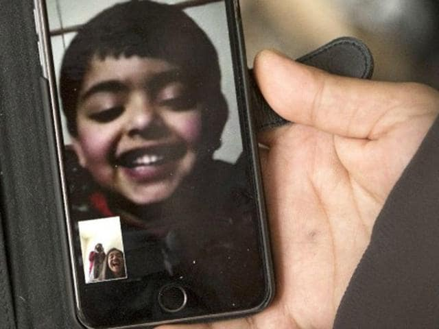 Daksh-Sood-a-three-year-old-boy-who-is-separated-from-his-parents-and-stranded-in-India-chats-with-his-parents-in-Ottawa-by-phone-daily-Vancouverdesi
