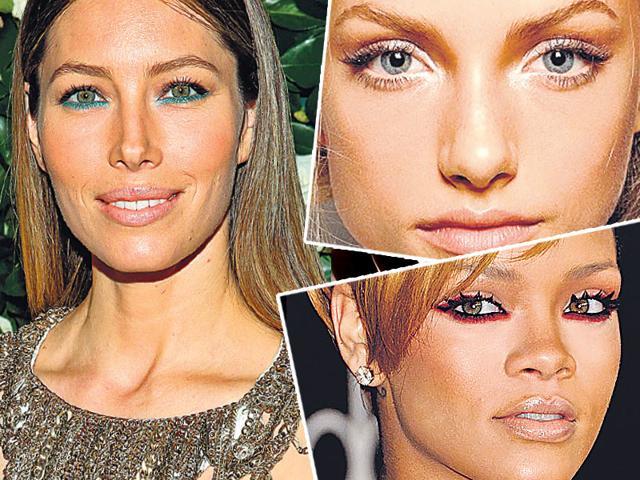 eye makeup,eye colour trends,kohl colours