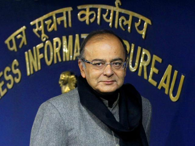 Union-finance-minister-Arun-Jaitley-at-a-press-conference-at-Shastri-Bhawan-in-New-Delhi-Arvind-Yadav-HT-File--Photo