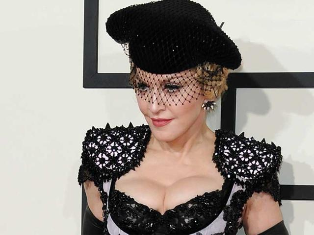 Madonna-s-eclectic-choice-of-dress-Grammys-2015