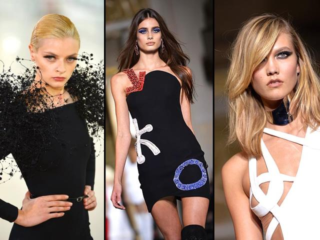 Left-to-right-Trendsetting-smoky-eyes-at-Donatella-Versace-s-latest-Haute-Couture-show-electric-blue-cat-eyes-at-the-Atelier-Versace-show-and-all-a-flutter-at-St-phane-Rolland-s-Paris-Haute-Couture-Week-show-AFP