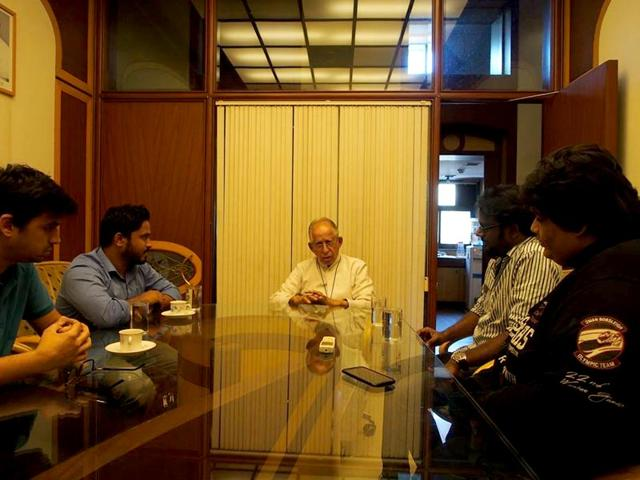 The-members-of-the-comedy-group--AIB-in-a-meeting-with-the-Archdiocese-of-Bombay