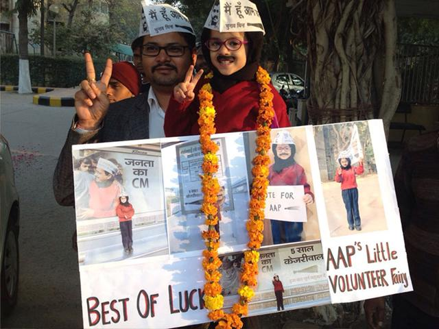 A-child-dressed-like-AAP-chief-Arvind-Kejriwal-with-his-parent