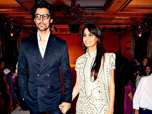 Actor-Kunal-Kapoor-with-Naina-his-longtime-partner-and-Amitabh-Bachchan-s-niece-HT-Photo