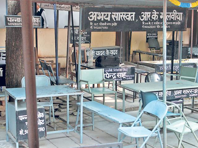 The-district-court-in-Indore-wears-a-deserted-look-on-Tuesday-Shankar-Mourya-HT-photo