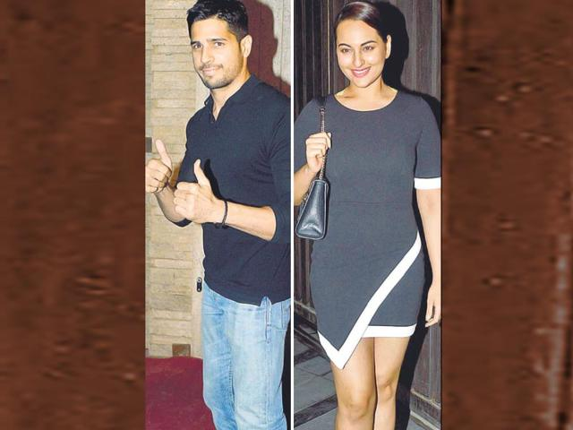 Back in black: Sonakshi Sinha and Sidharth Malhotra looks all set to rock the party!