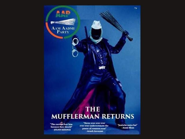 From-terming-Arvind-Kejriwal-Singham-to-making-posters-that-say-Mufflerman-Returns-The-Corruption-Hunter-social-media-was-full-of-humour-during-the-election-season