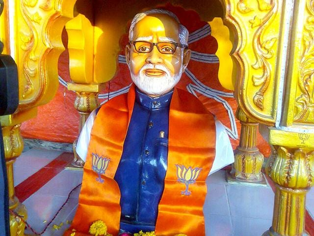 Plans-to-inaugurate--Modi-temple-in-Rajkot-district-s-Kotharia-village-were-scrapped-on-Thursday-after-the-PM-called-the-exercise-shocking-and-against-India-s-great-traditions-HT-file-photo