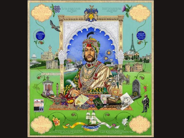 Painting-Casualty-of-War-A-portrait-of-Maharaja-Duleep-Singh-by-The-Sikh-Twins-on-display-at-National-Museum-Scotland-Singhtwins-co-uk