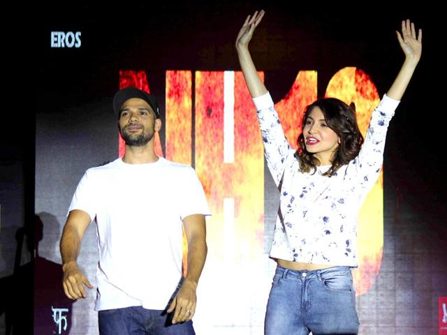 Actors Anushka Sharma and Neil Bhoopalam during the promotion of film NH10 in Mumbai. (IANS)