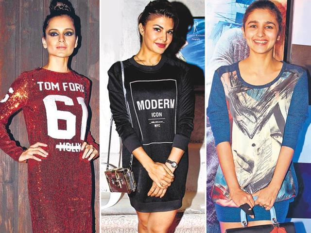 Kangana-Ranaut-Jacqueline-Fernandez-and-Alia-Bhatt-tee-it-up-with-oversized-tops-minus-pants