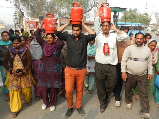 Bathinda,municipal corporation,LPG cylinder