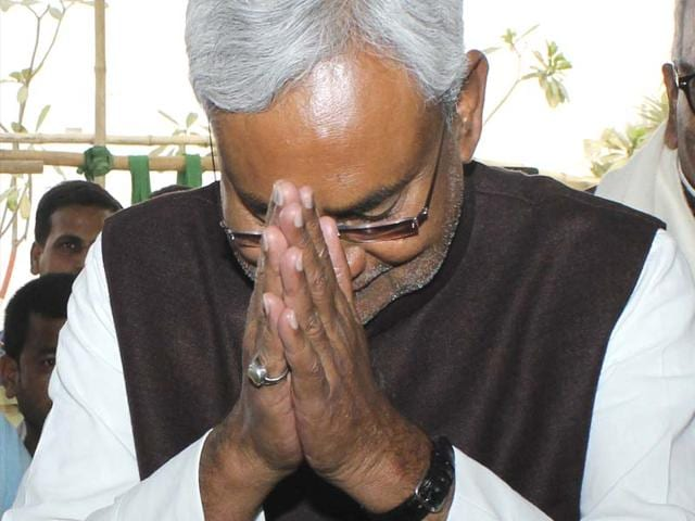 JD-U-senior-leader-Nitish-Kumar-after-Jitan-Ram-Manjhi-resigned-as-Bihar-CM-in-Patna-on-Friday-HT-photo-Arun-Abhi-Abhi