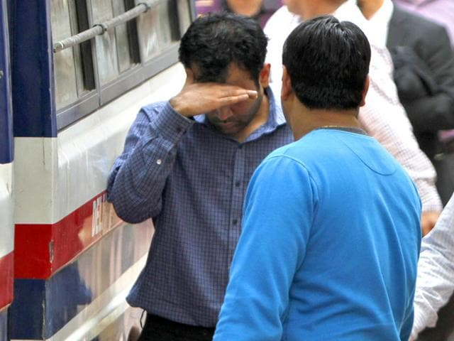 Accused-in-oil-ministry-document-leak-case-being-produced-at-a-Delhi-court-Arun-Sharma-HT-Photo