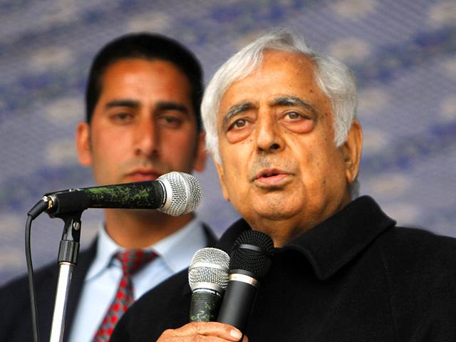 PDP-patron-Mufti-Mohammad-Sayeed-at-an-election-rally-near-Srinagar-The-veteran-politician-has-been-India-s-home-minister-Waseem-Andrabi-HT-photo