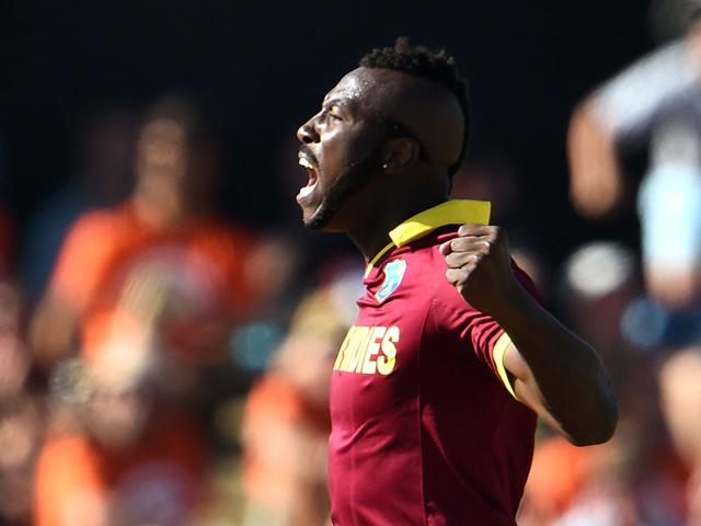 West-Indies-bowler-Andre-Russell-celebrates-dismissing-Pakistan-batsman-Umar-Akmal-during-their-2015-Cricket-World-Cup-Group-B-match-in-Christchurch-AFP-Photo