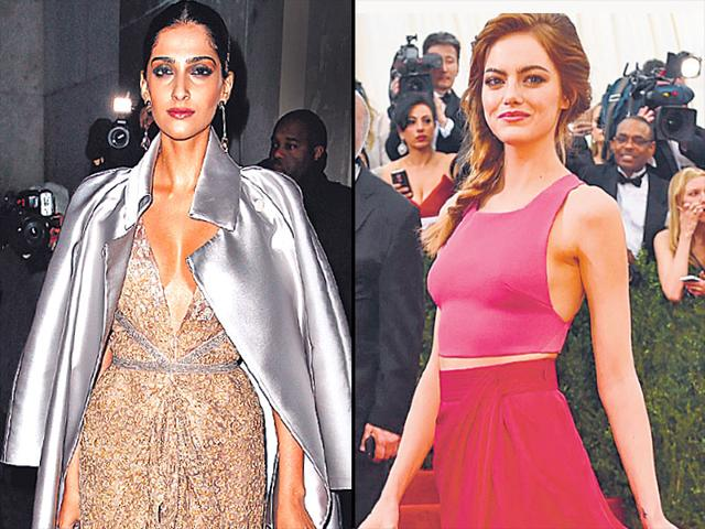 Sonam-Kapoor-and-Emma-Stone-go-separate-smart-with-colour-play